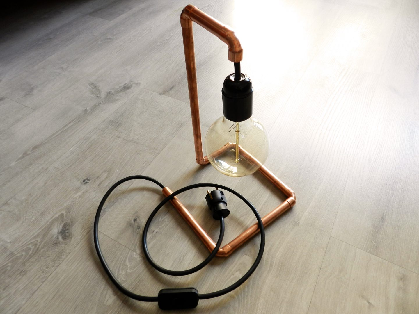 DIY Copper Lamp