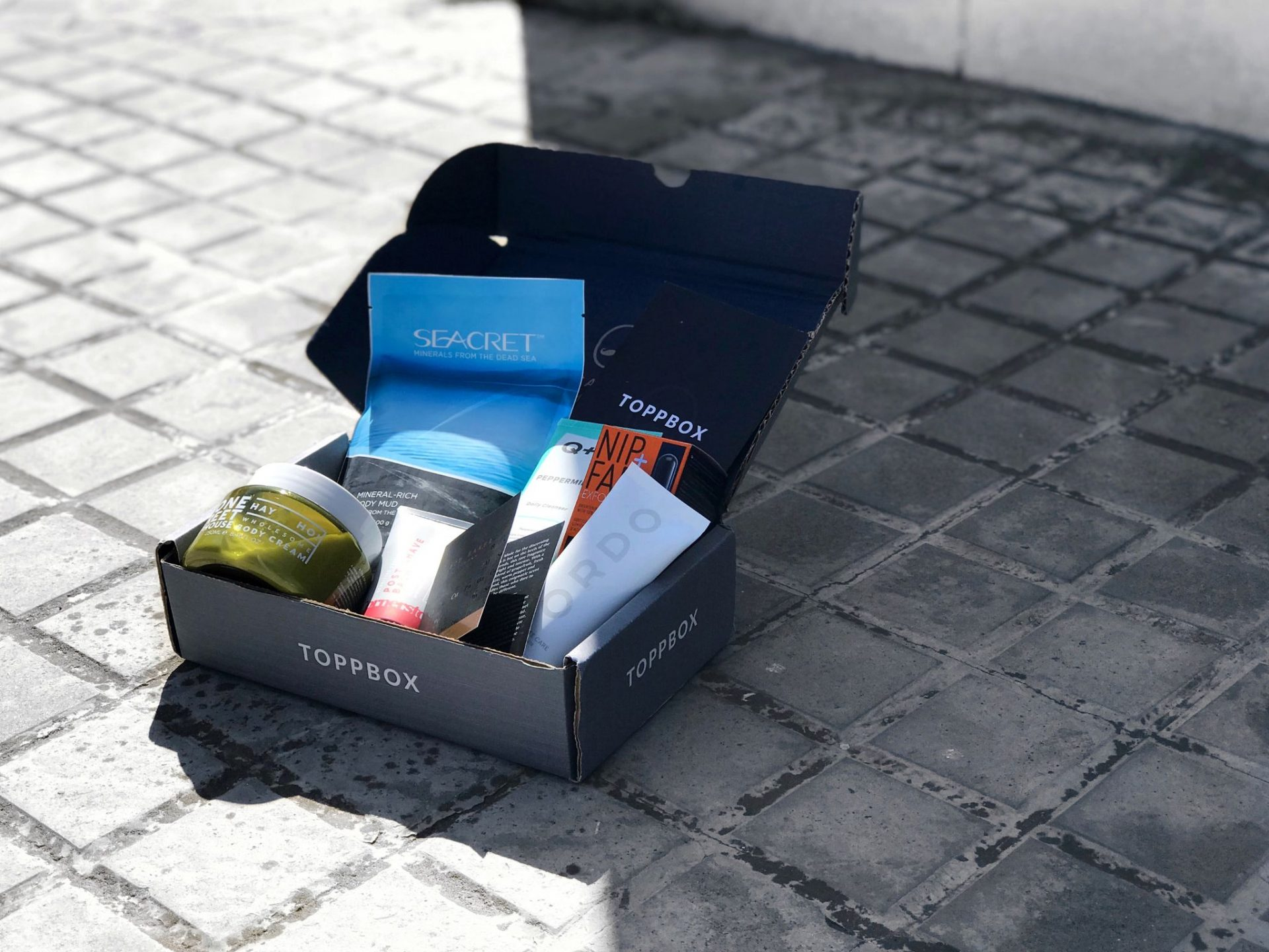 toppbox subscription box street pavement